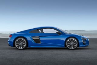 Illustration for article titled Audi Unveils R8 E-Tron Piloted Driving Concept