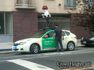 Illustration for article titled Google Maps Street View car breaks down in Brooklyn