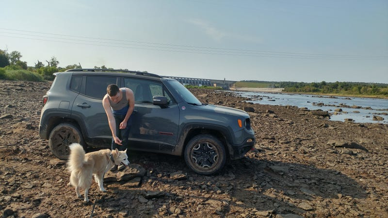 Dog A and George on his last off-roading adventure. Not pictured: Wagovan