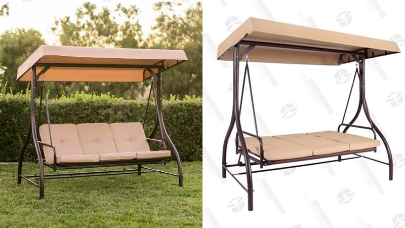 Best Choice Products Covered Bench Swing | $120 | Best Choice Products | Promo code HEAVYDUTYSWING