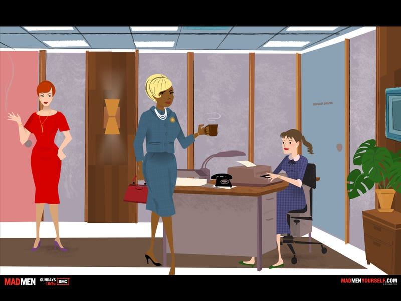 """The author's newly minted, Dr. Faye-esque, """"Mad Men"""" avatar"""