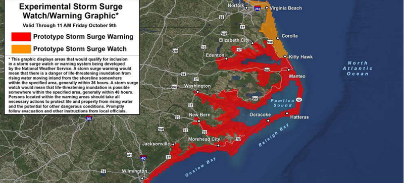 Illustration for article titled The US Is Testing a Storm Surge Warning System for Hurricanes