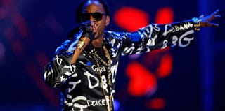 2 Chainz performs during November's Soul Train Awards 2012. (Isaac Brekken/Getty Images Entertainment)