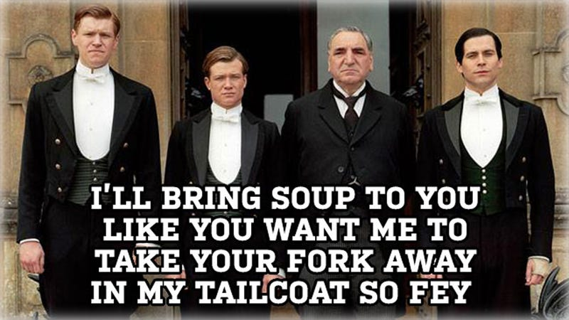 Illustration for article titled The Boy Band Butlers of Downton Meme Is the Best Meme You'll See Today