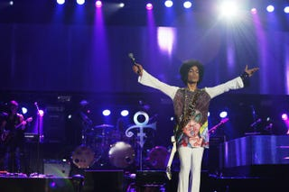 Prince performing at Essence Music Festival, New Orleans on July 4, 2014Courtesy NPG Records