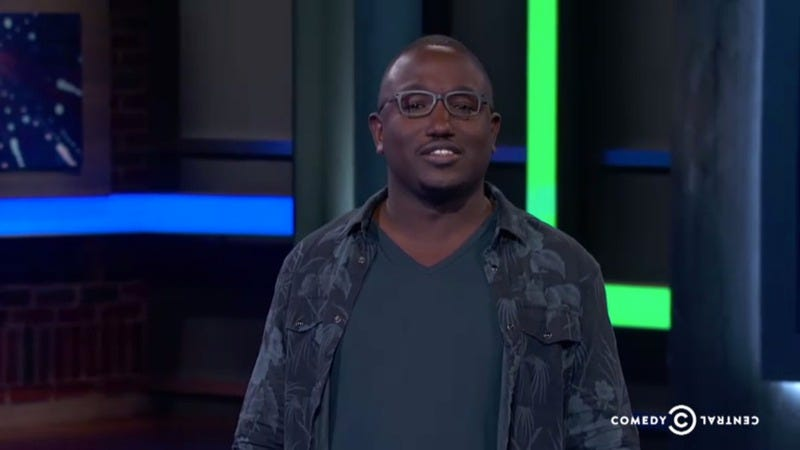 Illustration for article titled Hannibal Buress gets yelled at by a shark in this Why? with Hannibal Buress clip from Comedy Central