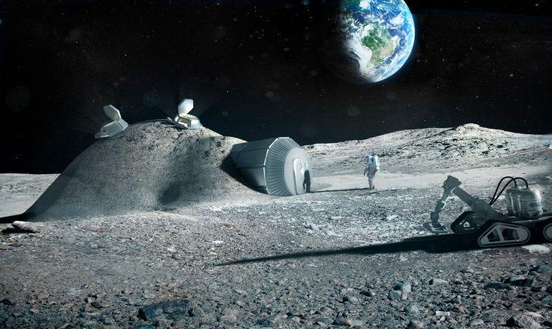 Illustration for article titled China y la ESA quieren construir juntos una base en la Luna