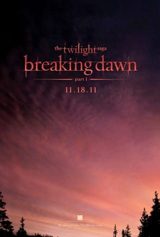 Illustration for article titled Twilight Breaking Dawn poster