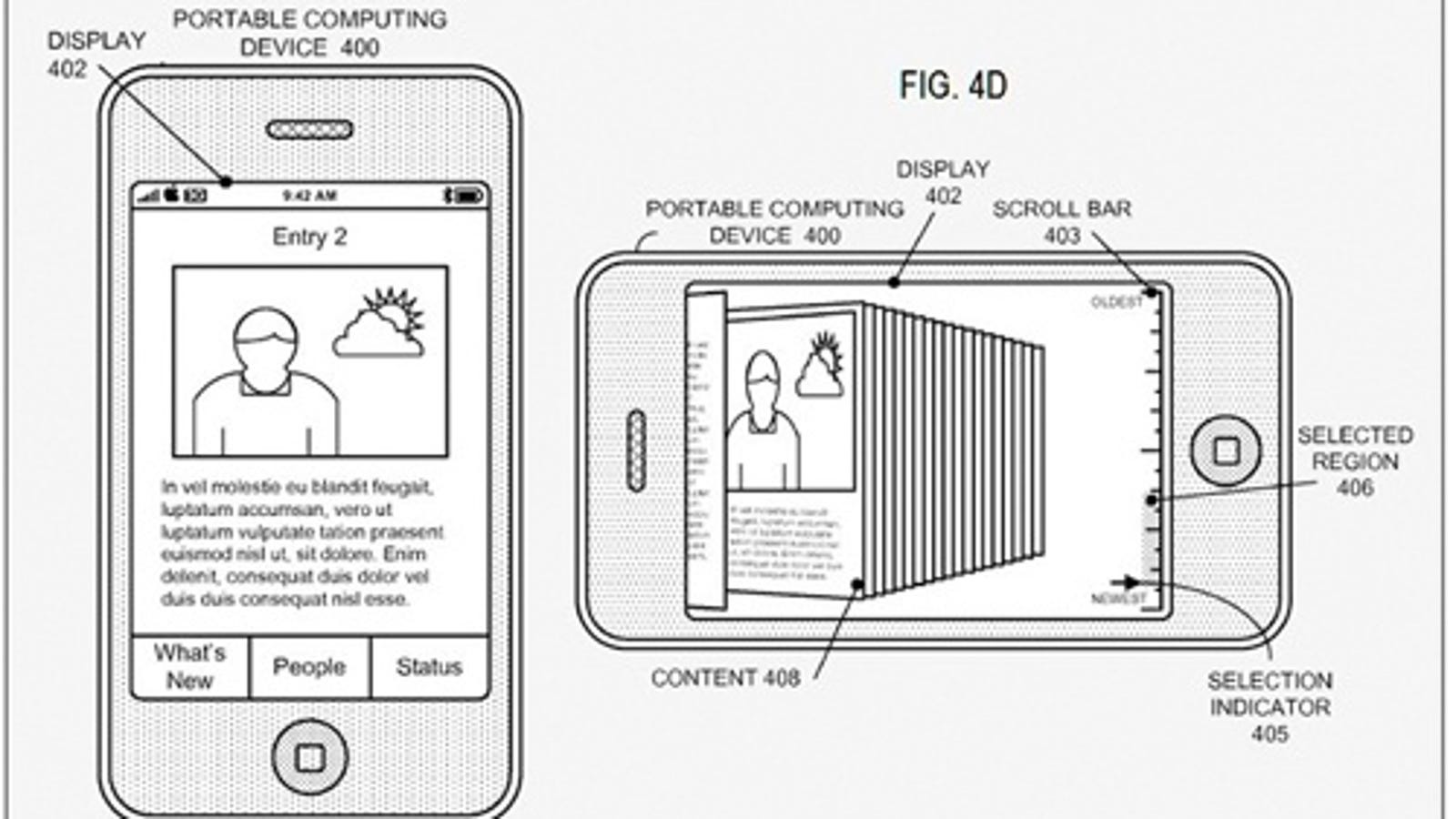 Apple Patent For Cover Flow-Like Social Networking Profiles