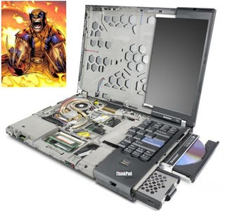 Illustration for article titled Lenovo T61 Thinkpad's Magnesium Rollcage == Wolverine's Bones