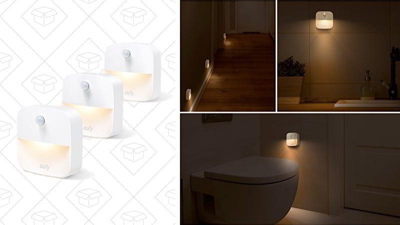 3-Pack Stick-Anywhere Lumi Night Lights, $12 | 4-Pack Plug-In Lumi Night Lights, $11