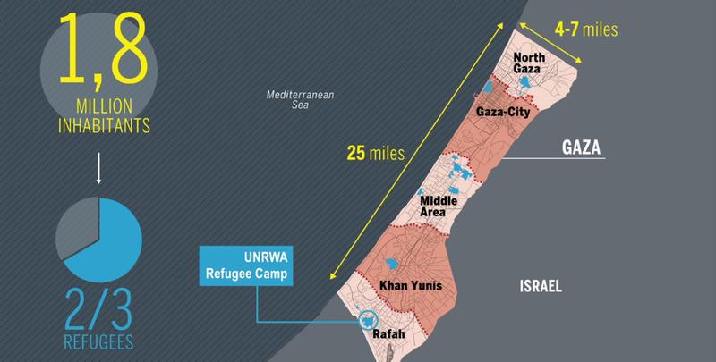 Illustration for article titled El mejor mapa animado para entender la situación actual de Gaza