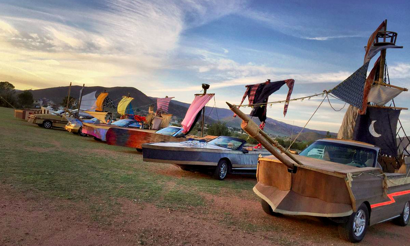 These Cars Were Turned Into Pirate Ships For A Hollywood