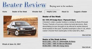 Illustration for article titled Beater Of The Week: You Want Cheap Car? We Know Cheap Car!