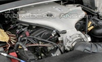 Illustration for article titled Spy Photos: 2009 Cadillac CTS-V Engine Bay