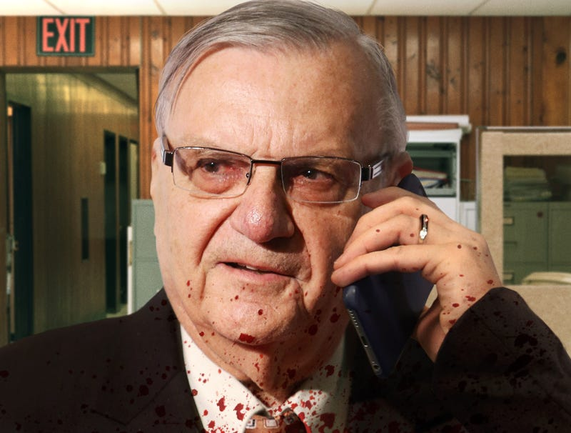 Illustration for article titled Blood-Splattered Joe Arpaio Calls Trump To Tell Him He's Going To Need Another Half Dozen Pardons
