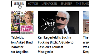 Illustration for article titled So Jezebel uses a misogynist term to complain about a misogynist.