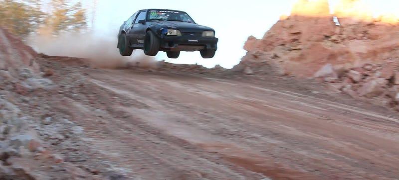 Illustration for article titled It's A Mustang/Subaru/AE86/Nissan/Fiesta ST Jump Drift Dirt Fest