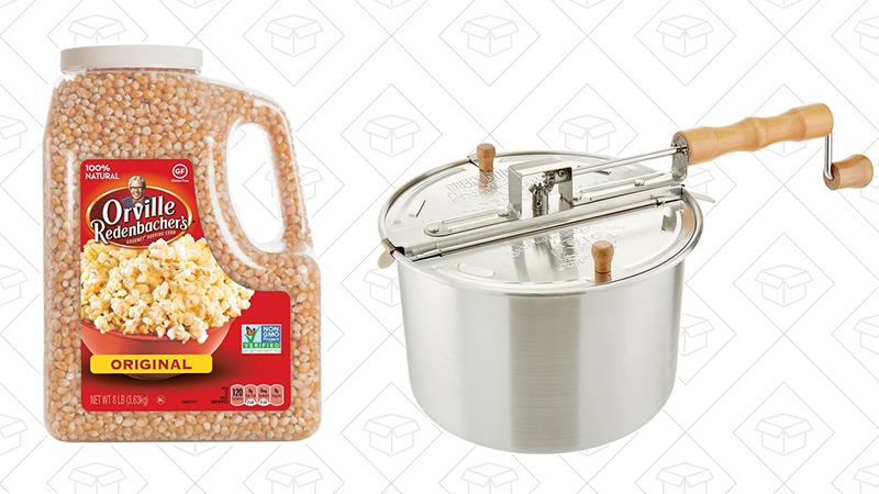 Popcorn Popper, $22Popcorn, 8lbs, $23