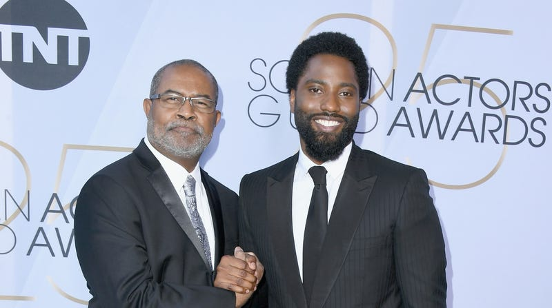 Ron Stallworth (L) and John David Washington attend the 25th Annual Screen Actors Guild Awards on January 27, 2019 in Los Angeles, California.