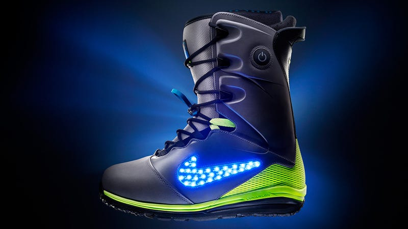 Illustration for article titled Nike's Latest Snowboarding Boot Fits Right In at the Tron Chalet