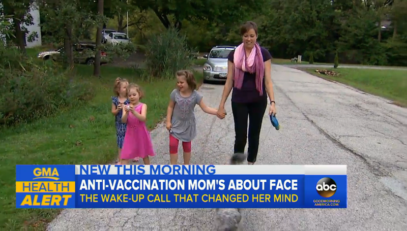 Anti-Vaxxer mom changes mind after her three kids fall ill