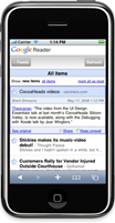 Illustration for article titled Google Reader iPhone Beta Launches