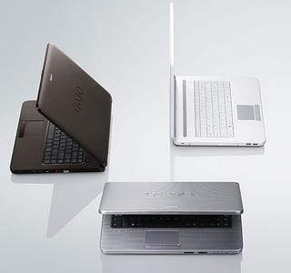 Illustration for article titled VAIO NR Has Swank Textured Finish, But It's Cheapest Sony Laptop Yet