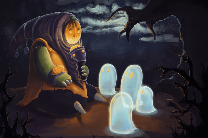 Illustration for article titled Fan Version Of League Of Legends' Bard Is Really Spoooooooky