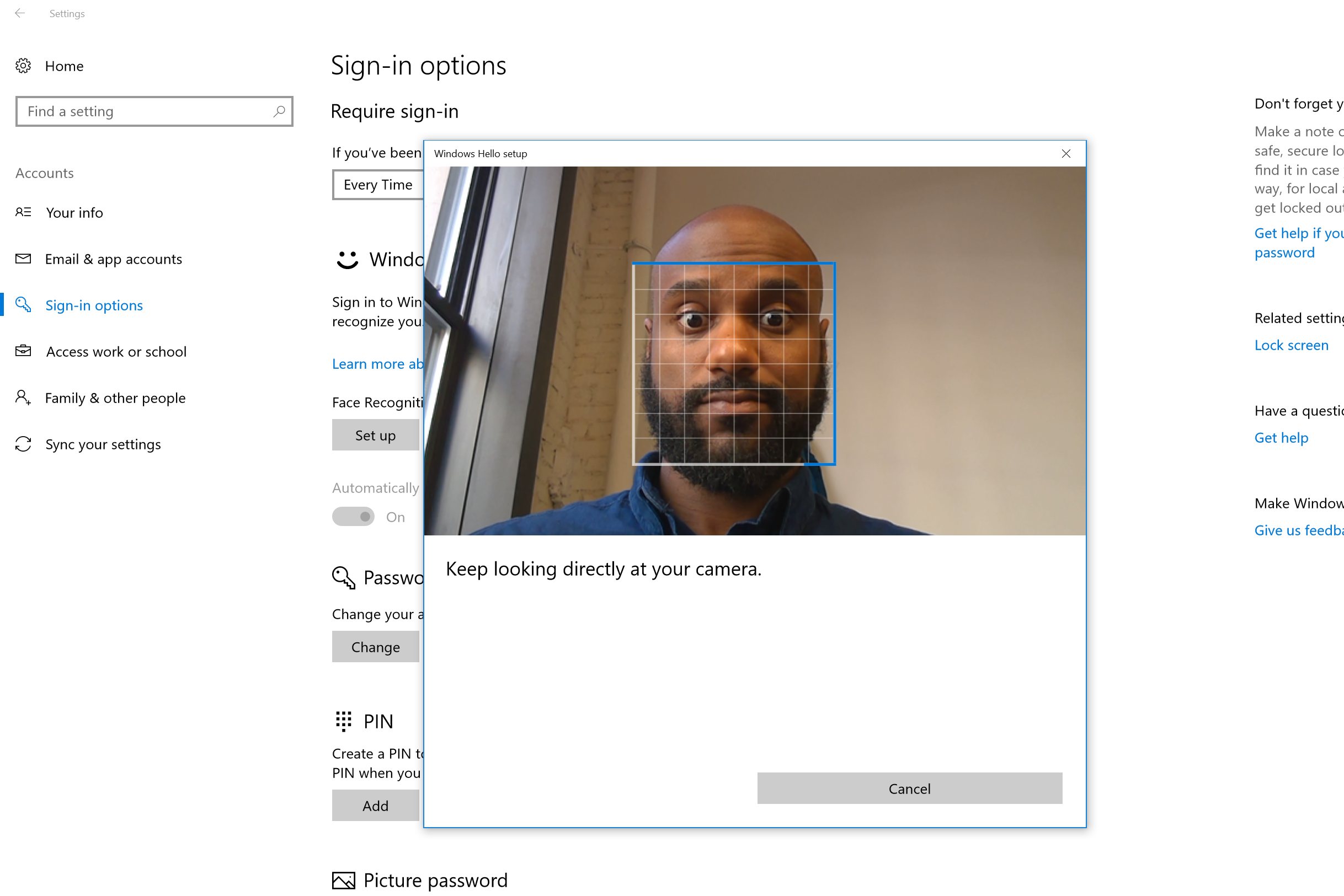 How to Secure Your PC With Windows Hello's Facial Recognition