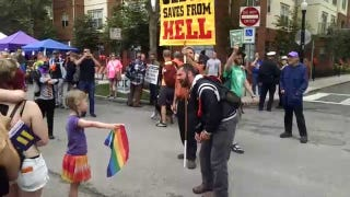 Little Girl Does Not Give a Fuck About Street Preacher's Homophobic Rant