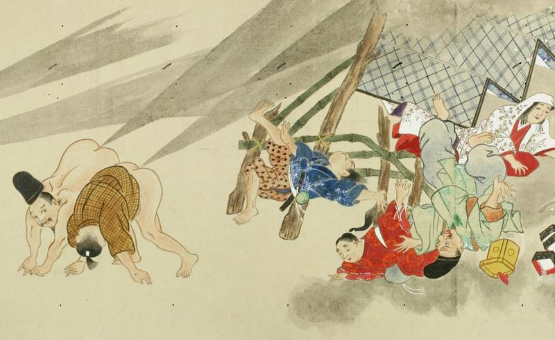 Illustration for article titled Hay trabajos malos y luego están los heoibikuni en el Japón feudal (Pista: flatulencias)