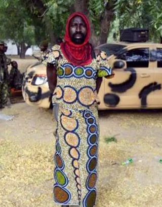 The Islamic militants attempted to escape Nigerian security officials by dressing in feminine attire.YouTube screenshot