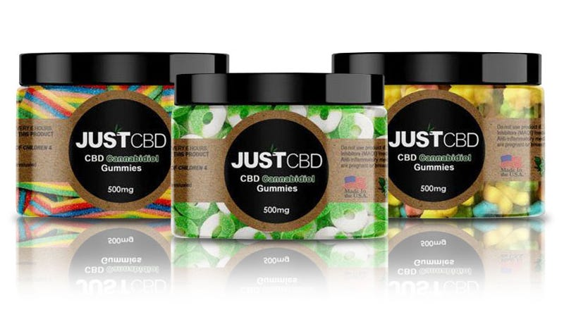 Illustration for article titled Save 25% On These 500mg CBD Gummies From JustCBD ($30)