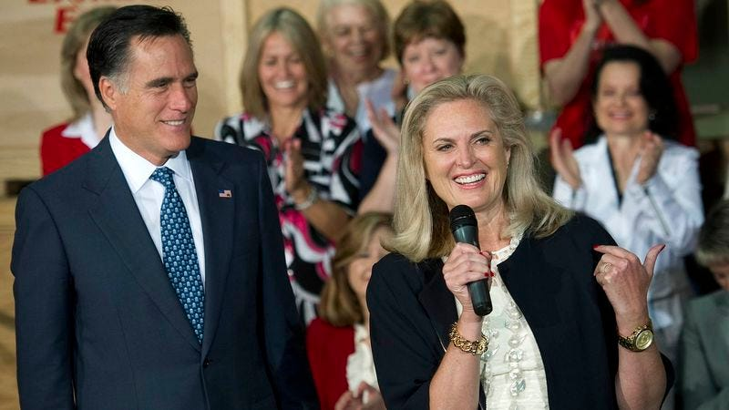 Ann Romney says that, around the house, her husband is actually a deeply moral individual.