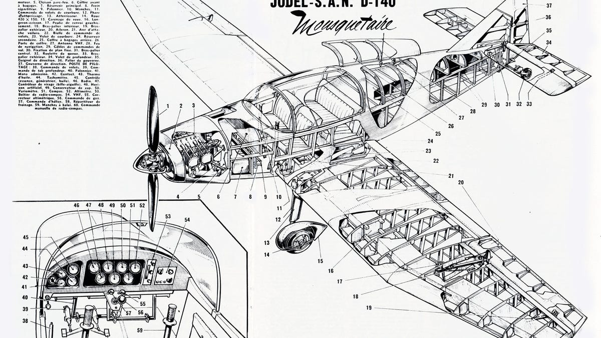 Feast Your Eyes On These Rare Aircraft Cutaway Drawings Diagram Of An Airplane
