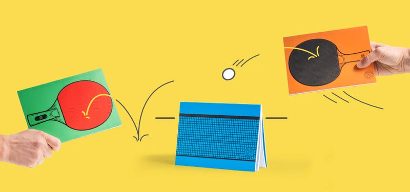 Illustration for article titled Table Tennis Notebooks Will Lead to Impromptu Office Ping Pong Throwdowns
