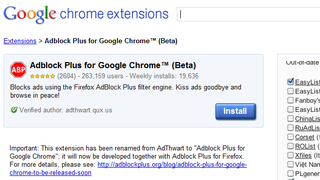 Illustration for article titled AdThwart Quietly Becomes Adblock Plus for Chrome, Adds Updated Filters