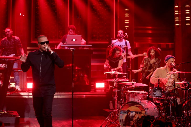 T.I. performs with Anderson .Paak and the Free Nationals on The Tonight Show Starring Jimmy Fallon on May 25, 2016.Andrew Lipovsky/NBC/NBCU Photo Bank via Getty Images
