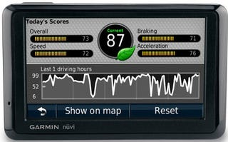 Illustration for article titled Garmin ecoRoute hd Lets Your GPS Silently Judge Your Eco-Driving