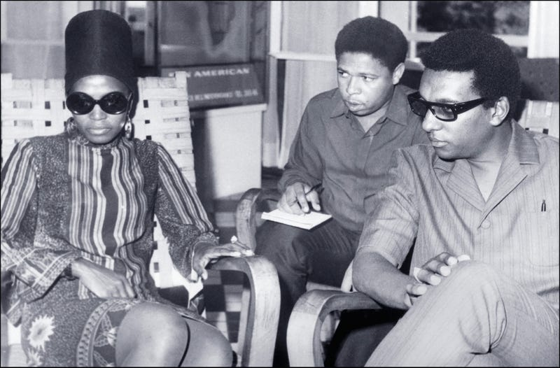 Stokely Carmichael, aka Kwame Ture (right), who was a leader of the Black Panther Party, shown in a photo dated Sept. 12, 1968, with his wife, South African singer Miriam Makeba (left)STR/AFP/Getty Images