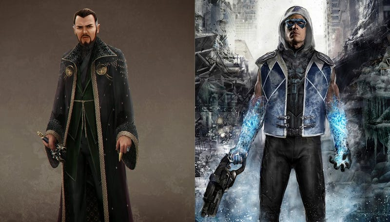 Illustration for article titled Nifty Concept Art Of Captain Cold And Ra's Al Ghul On Flash And Arrow