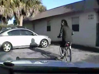 Dontrell Stephens was riding his bike when he noticed he was being followed by an officer.WPTV