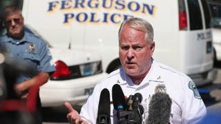 Police Chief Thomas Jackson fields questions related to the shooting death of teenager Michael Brown during a press conference on Aug. 13, 2014, in Ferguson, Mo.Scott Olson/Getty Images