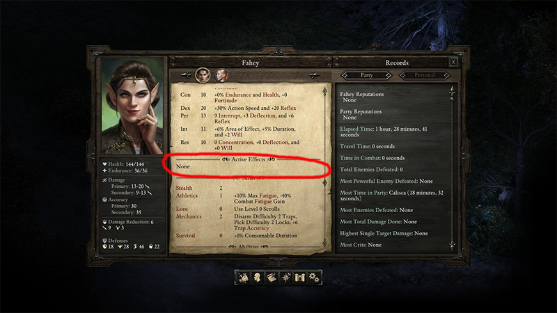Illustration for article titled Pillars Of Eternity Characters Crippled By Ridiculous Inventory Bug