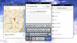 Illustration for article titled Google Maps for iPhone Now Searches Google Contacts and Local Categories