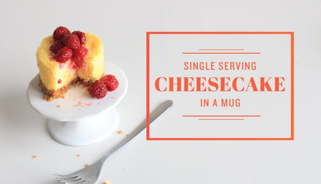 Make a Decadent Mini Cheesecake In the Microwave With a Mug