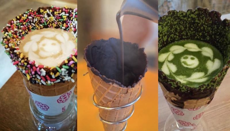 """El Unicorn Frappuccino es de ayer. Te presentamos la nueva """"bebida"""" de moda: el coffee cone"""