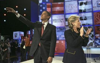Illustration for article titled Obama Inspires Hillary To Plagiarize Her Own Inspiring Speech