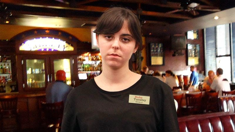 Entire Ruby Tuesday Waitstaff Just Trying To Ignore Table